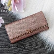 FOXER Brand Women Split Leather Wallets Female Clutch bag Fa