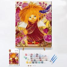 Картина по номерам «сделай сам» Солнечный Ангел мультяшная рама
