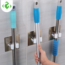 GUANYAO Adhesive Multi-Purpose Hooks Wall Mounted Mop Organizer Holder RackBrush Broom Hanger Hook Kitchen bathroom Strong Hooks