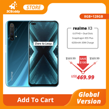 realme X3 SuperZoom Global Version Mobile phone 8GB 128GB 60X Snapdragon 855+ 120Hz Display 64MP Quad Camera 30W Faster Charger