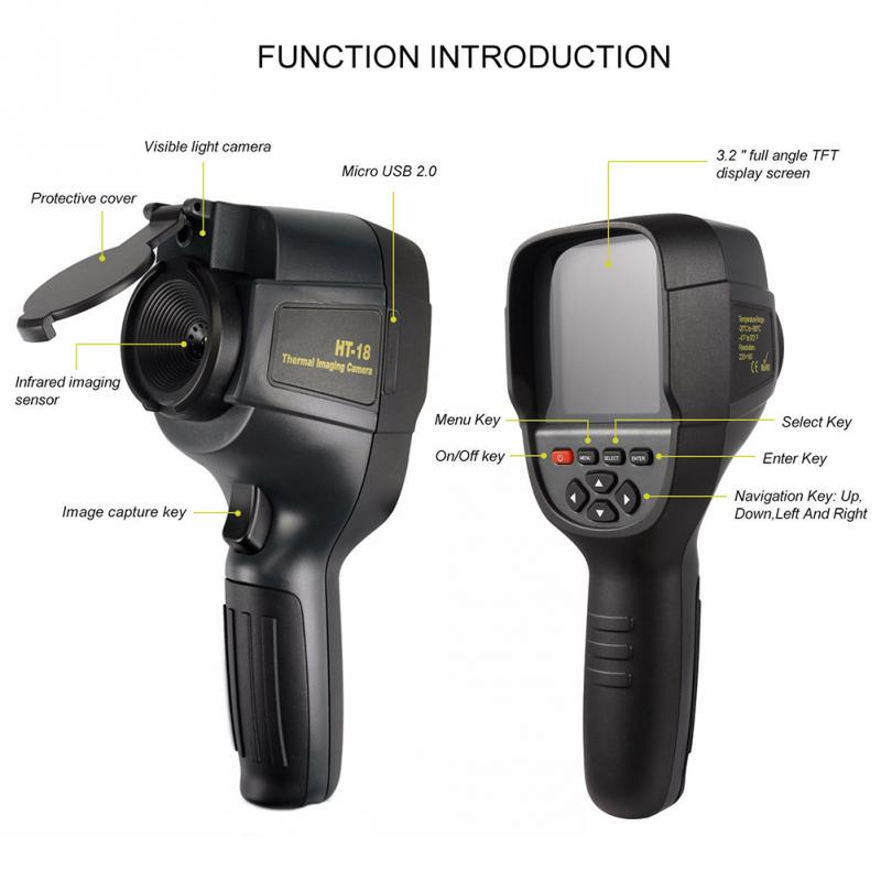 HT-18 Digital Imager Thermal Camera With Protective Cover And Infrared Imaging Sensor 8