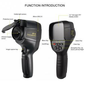 Image 3 - HT 18 ręczny IR cyfrowy kamera termowizyjna kamera detektora podczerwieni temperatura ciepło FLIR wysokiej rozdzielczości skaner diagnostyczny samochodu