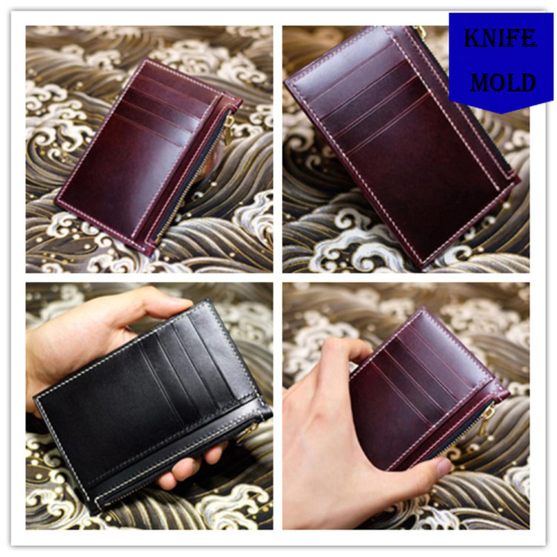 Image 2 - Leather Die Cutter Japan Steel Blade DIY Leather Craft Men Zipper  Card Holder Cutting Knife Mould Hand Machine Punch ToolPunching   -