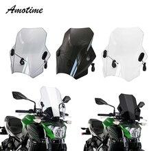 Für KAWASAKI SUZUKI YAMAHA HONDA BMW Universal Motorrad Windschutz Windschutz Deckt Bildschirm Rauch Objektiv Motorräder Deflektor