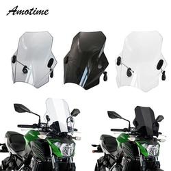 Para kawasaki suzuki yamaha honda bmw universal motocicleta pára brisas capas de tela lente fumaça motos defletor