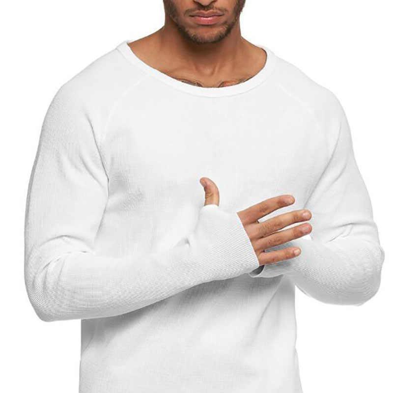 Moda düz renk Tshirt 2020 yeni erkek ince uzun kollu T-shirt gençlik erkek T shirt o-boyun casual Tops