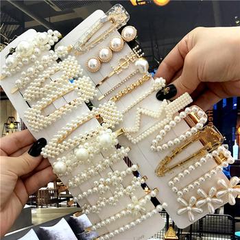 1 zestaw Handmade perły spinki do włosów Pin dla kobiet moda geometryczne kwiat Barrettes nakrycia głowy dziewczyny słodkie spinki do włosów akcesoria tanie i dobre opinie CN (pochodzenie) Dla osób dorosłych WOMEN COTTON STOP GEOMETRIC WSUWKI DO WŁOSÓW Pearl Barrettes512 Opp bag + Bubble Wrap