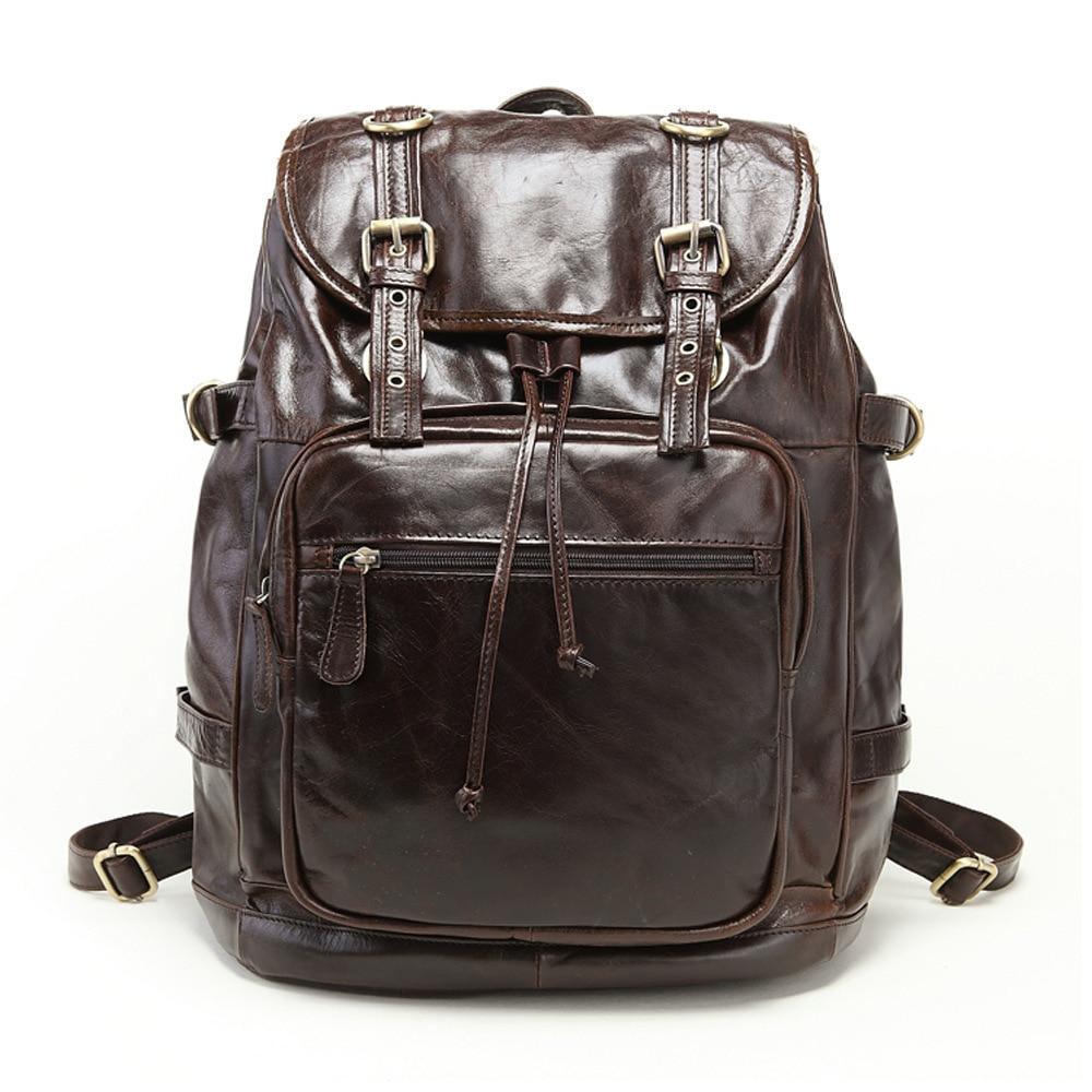 Crossten Vintage Unisex 100% Guarantee Real Genuine Leather Backpack Men Women Fashion Designer School Bag Brand Travel Bags