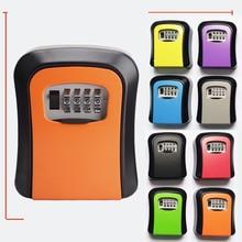 Box Outdoor Wall Mounted Aluminum Alloy Key Safe Box Weatherproof 4 Digit Combination Keys Storage Lock Boxes Indoor
