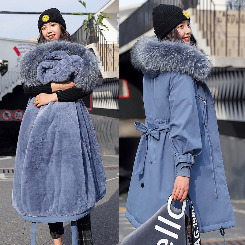 Winter jacket Women Slim Snow Outwear Medium-long Wadded Jacket Thick Padded Warm   Parkas