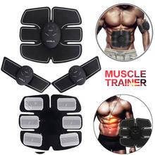 Estimulador abdominal ems inteligente, preço de fábrica, 6 unidades, almofada, emagrecimento, massageador, unissex, corpo abdominal