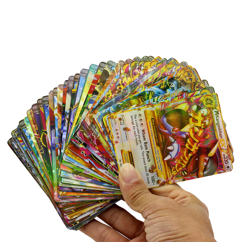 Tomy Pokemon GX Cards EX Cards MEGA Cards M Cards 3D Version Classic Plaid Flash Pokemon Card Collectible Gift Kids Toy