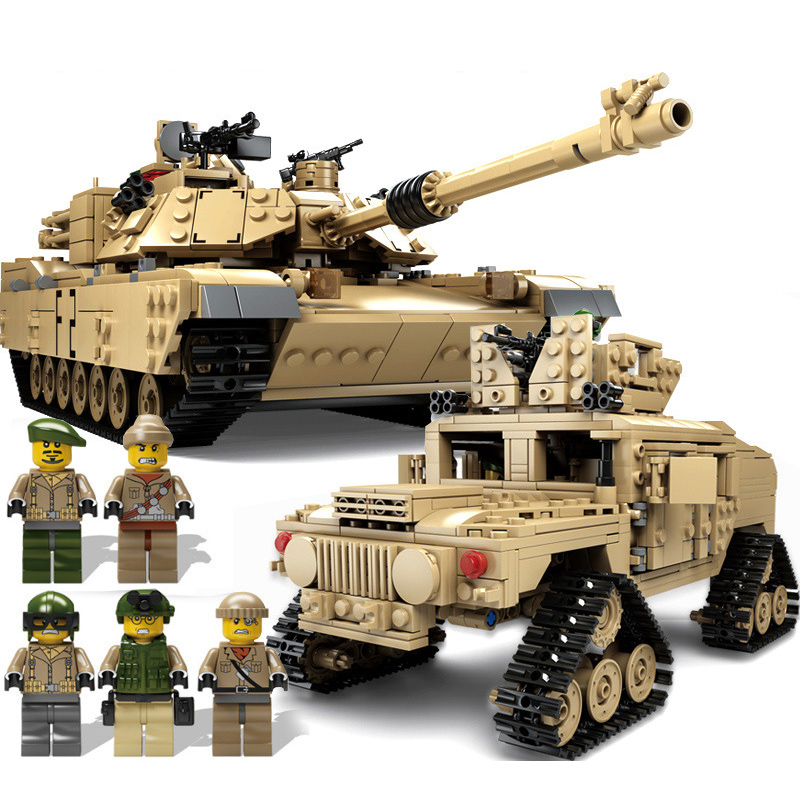 1463pcs Military Theme Tank Building Blocks M1A2 KY10000 1 Change 2 Toy Tank Models Toys Gift