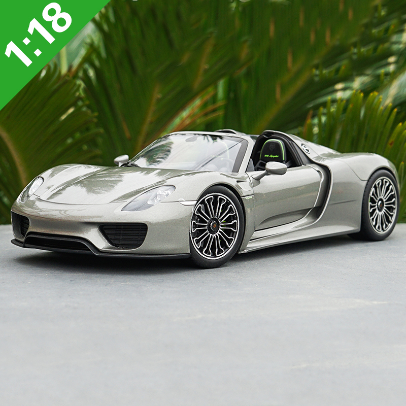 Welly 1:18 Scale 918 Spyder Convertible Diecast Metal Car Toy Alloy Model For Kids Gifts Collection Original Box Free Shipping