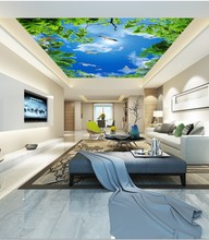 все цены на blue sky white clouds seagull living room bedroom ceiling mural 3d ceiling murals wallpaper онлайн