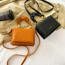 Square Bag Messenger-Bag Niche-Design Small Single-Shoulder New-Fashion Pu Popular-Bag