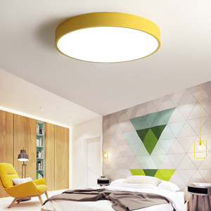 Image 2 - Ultra thin Ceiling Lights Creative Colored Circular LED Ceiling Lamps Childrens Room Lighting Kindergarten Exhibition Hall Lamp