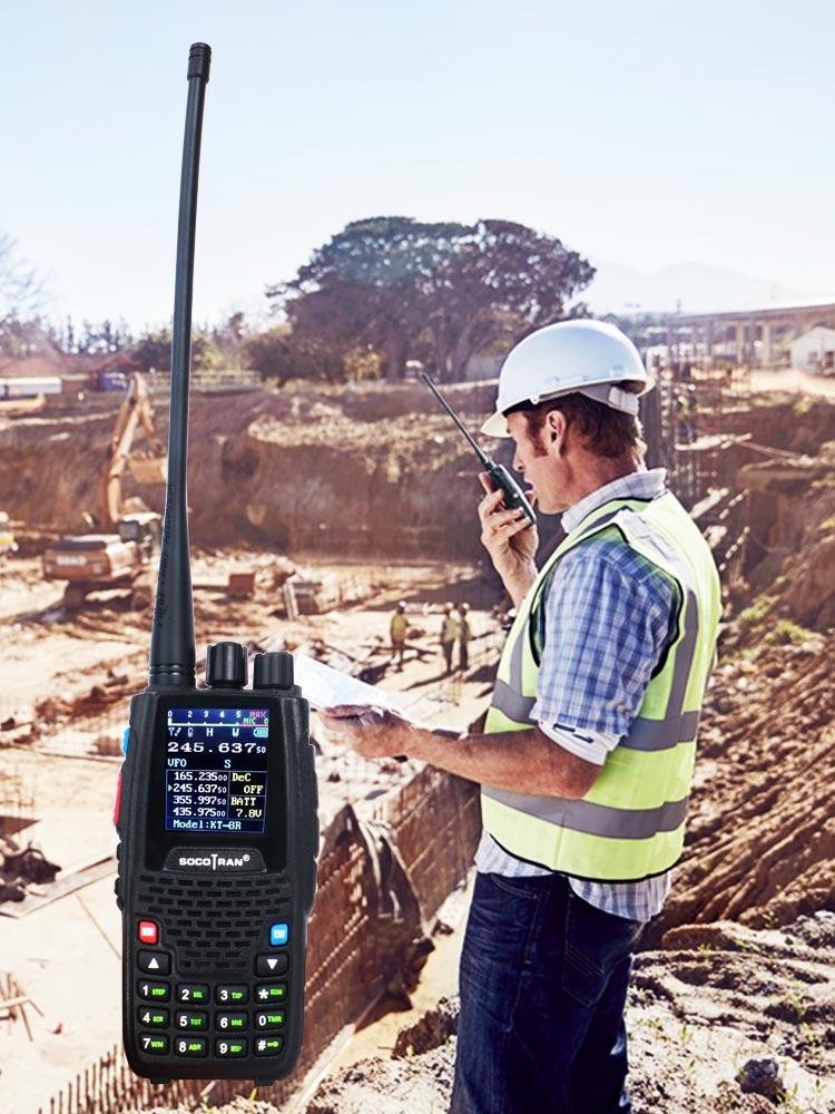 Ham Transceiver Walkie-Talkie Quad-Band Two-Way-Radio Handheld 136-147mhz 220-270mhz