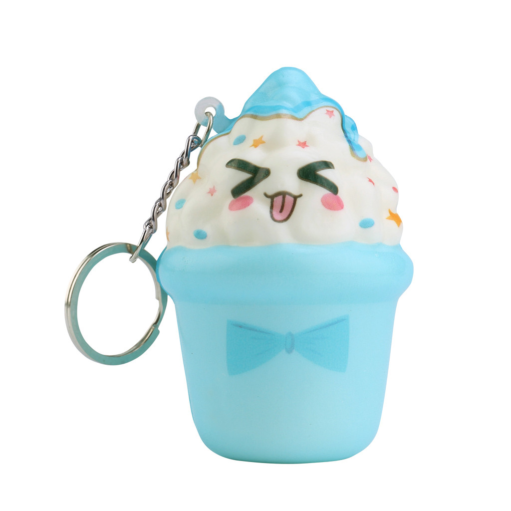 New Children's Toys Cute Keychain Ice Cream Slow Rising Cream Scented Stress Relief Toy Cartoon Squish Toys &gift For Kids