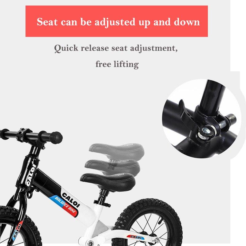 Детский Сияющий балансировочный автомобиль для езды на велосипеде, игрушки, двойное колесо, раздвижной автомобиль, регулируемый, без педали, для детей 2 6 лет - 3
