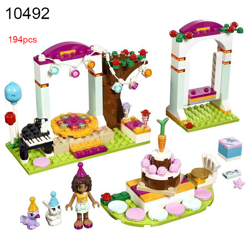 10492 Friends Andrea 194pcs Birthday Party Building Bricks Blocks Set DIY Toy Compatible 41110 for Girls Gifts in Blocks from Toys Hobbies