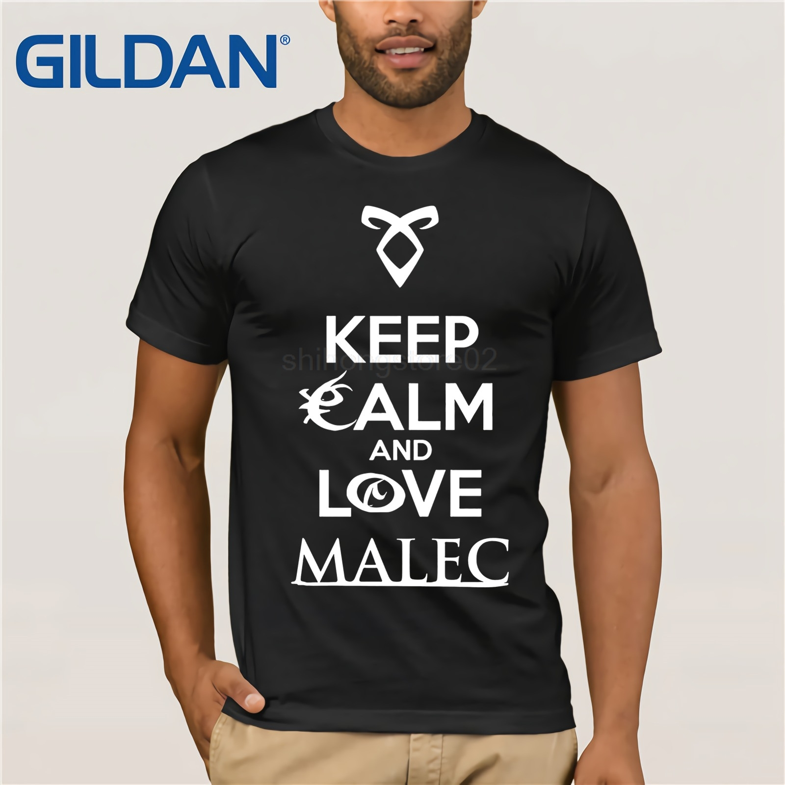 Shadowhunters The Mortal Instruments - Keep Calm And Love Malec - Magnus <font><b>Bane</b></font> And Alec Lightwood - Gift Idea T-<font><b>Shirt</b></font> image