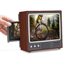 Retro TV Phone Holder Phone Stand Phone Screen Magnifier Phone Holder Screen Magnifier for Cell Phone Portable PUO88