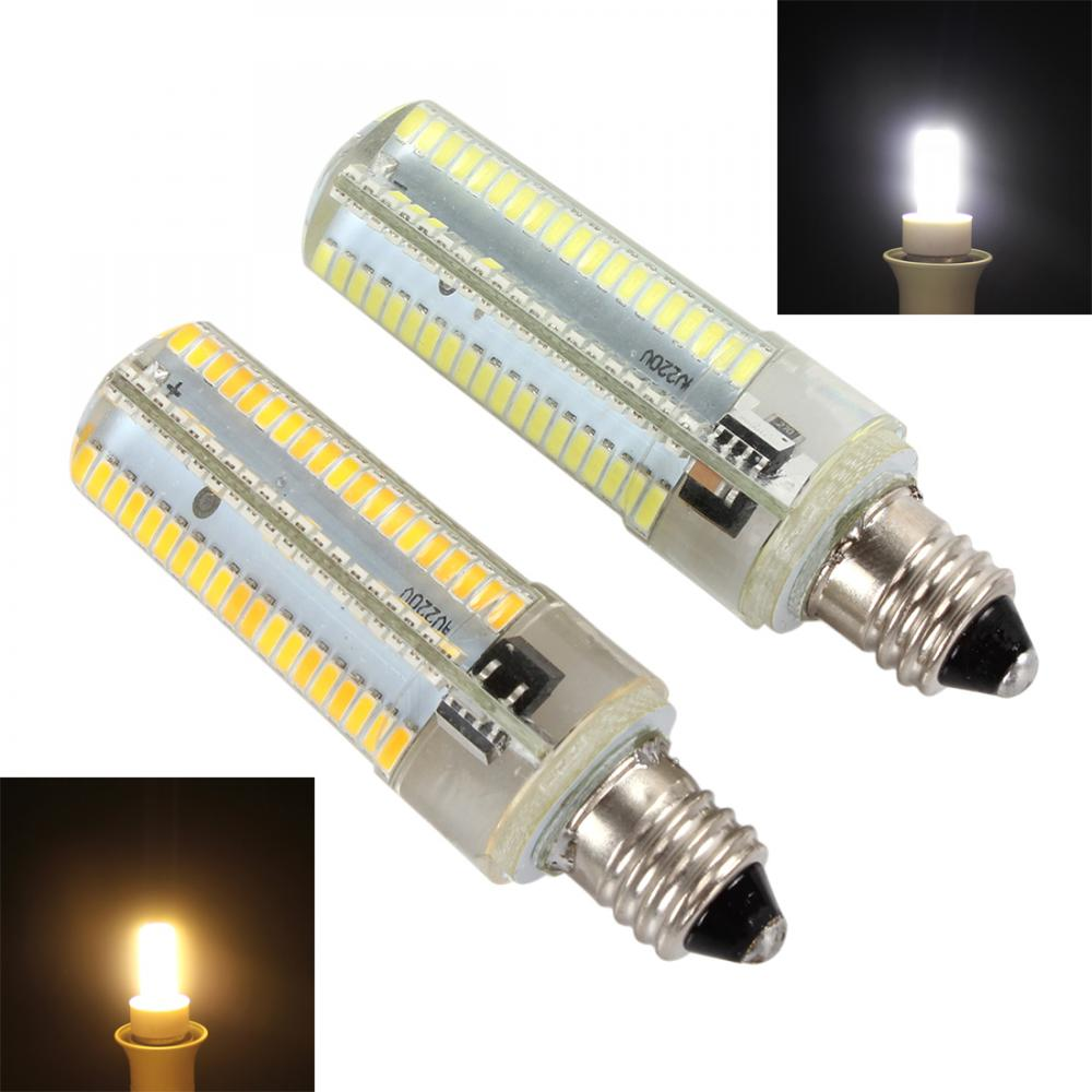 Dimmable 10W LED Corn Light Bulb E11 White / Warm White Light 152 LEDs 3014 SMD Corn Silicone Lamp Tube
