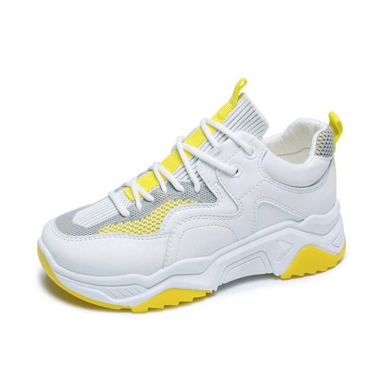 Women Shoes 2020 Spring Autumn Mesh Women Casual Shoes Flats Platform Fashion Women Shoes Low Top Off White Sneakers Shoes