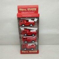 Children Mini Cute Pocket Toy Car Model Warrior Fire Truck Military Series Set Car Model