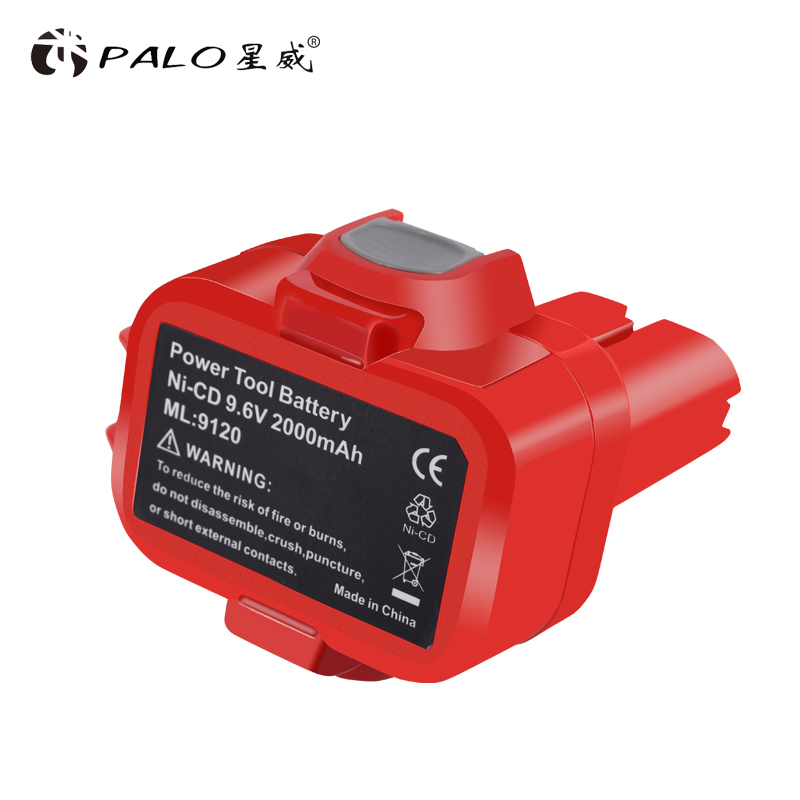 PALO 2000 mah 9.6 V 2.0Ah Ni-cd Power Tool <font><b>Battery</b></font> for <font><b>MAKITA</b></font> <font><b>9120</b></font> 9122 9133 9134 9135 9135A 6222D 6260D image