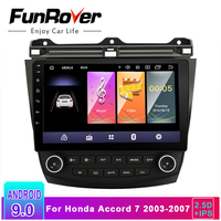 Funrover 2.5D+ IPS Car Radio Multimedia Android 9.0 for Honda Accord 7 2003 2007 car dvd audio stereo player gps Navigation RDS