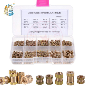 200/500Pcs M2*L-3.5 M2.5*L-3.5 M3*L-4.2(OD) Injection Nut Copper Insert Knurled Nuts Knurling Kit For Electrical