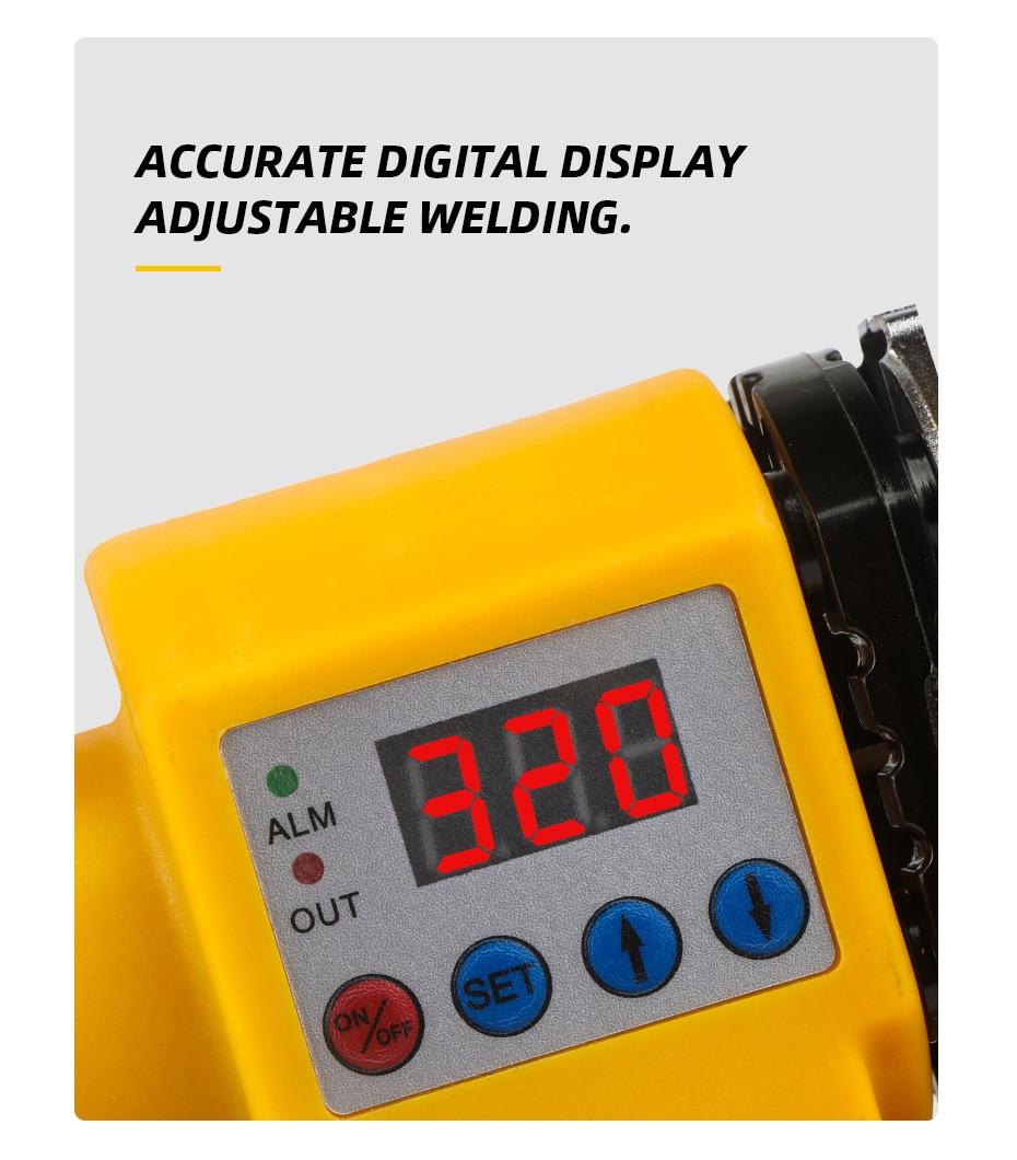 800 Вт Цифровой дисплей контроль температуры пластиковый сварочный аппарат водопровод пластиковый сварщик сантехник Отопление PPR RPV стыковая сварка