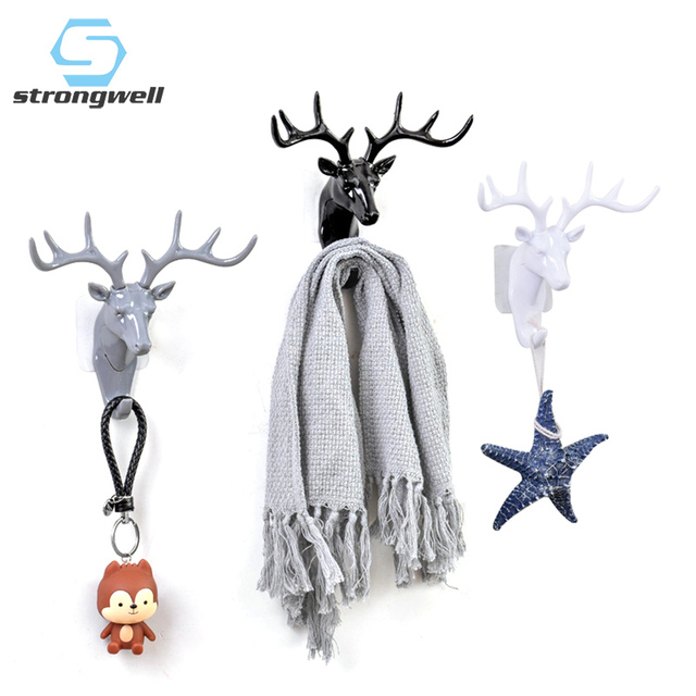 European Plastic Deer Statue Crafts Animal Ornament Shelf Rack Stand Figurines Home Decor Living Room Decor Wedding Gift 1