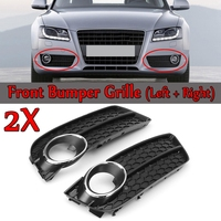 A Pair Front Bumper Fog Light Lamp Racing Honeycomb Hex Mesh Grille Grill Cover for Audi A5 for Coupe/Sportback 2008 11 Cabriole