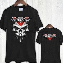 Vitória motocicleta uso crânio camiseta masculina tamanho s a 3xl