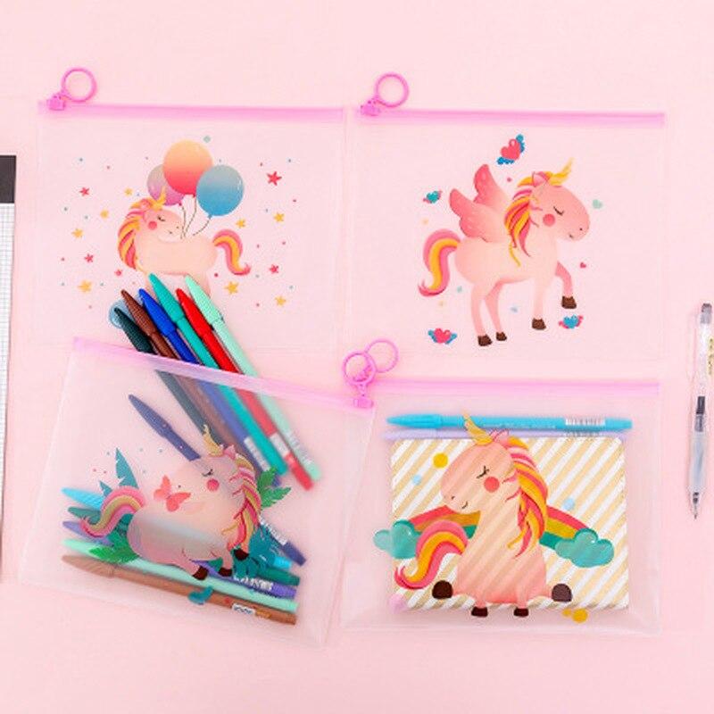 1pcs Dinosaur File Bag Student Cute Korean Bag Novelty Stationery Pencil Bag Children Cartoon Kawaii Bag Kawaii School Supplies