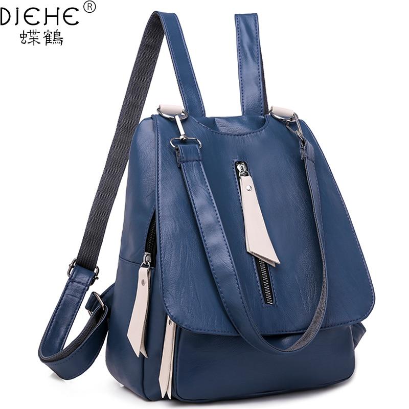 Women Leather Backpack Fashion PU Back Pack Small Shoulder Bag School Backpacks Bags For Teenagers Girls Female Mochila Rucksack