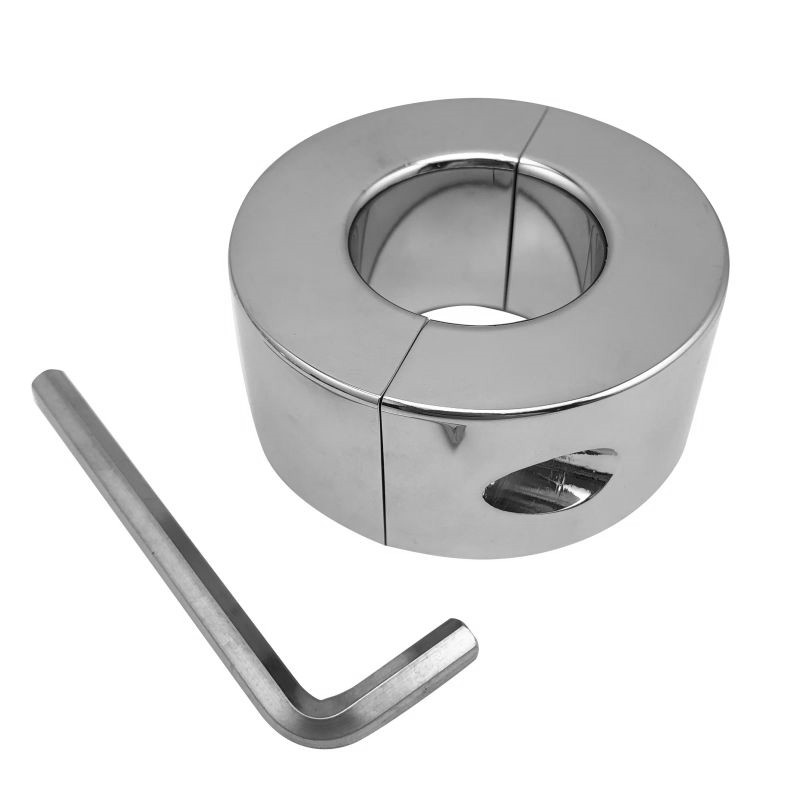 Dia 33/37mm Large Size Stainless Steel Ball Stretcher Cock Ring Metal Penis Lock Bondage Extend Delay Time BDSM Sex Toy