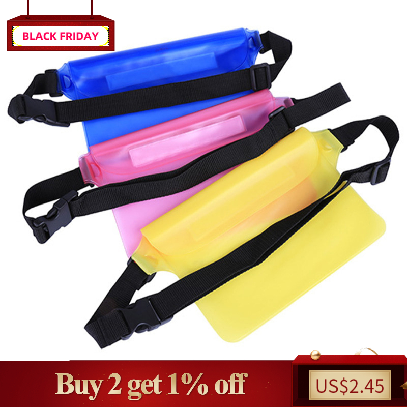 Waterproof Case Diving Document Pouch Waist Strap For Beach Drifting Swimming Fishing IPhone Camera Cash MP3 Pass Handbag