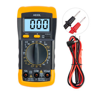A830L Digital Multimeter LCD AC DC Voltage Diode Freguency Handheld Multitester Current