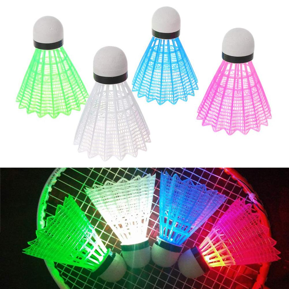 4Pcs Creative LED Light Badminton Balls Plastic Outdoor Sports Shuttlecocks Badminton Balls Badminton Balls Badminton Balls Plas