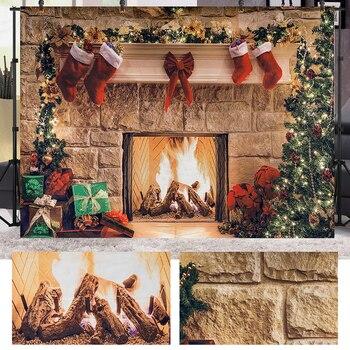 Fondo de Navidad de 1,5x2M para fotografía decoraciones de regalo de árbol de Navidad para fiesta de Navidad fotos de fondo accesorios de estudio fotográfico
