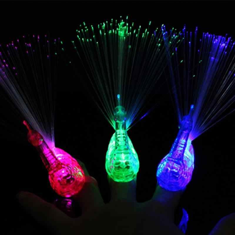 זוהר טווס אצבע אור צבעוני LED אור עד טבעות המפלגה גאדג 'טים ילדים אינטליגנטי צעצוע למסיבה מתנה צבע אקראי