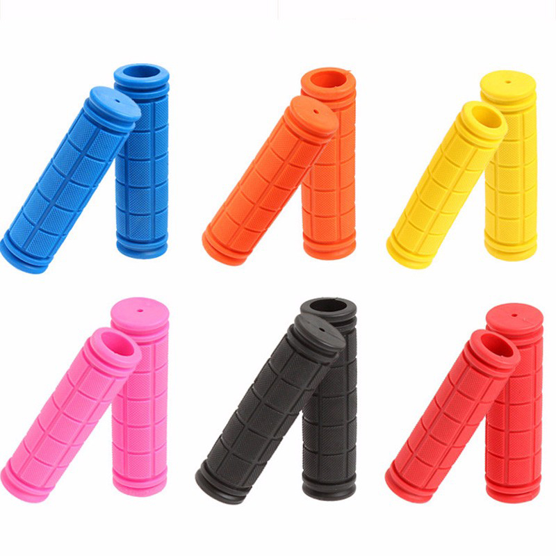Coolrunner Bike Handlebar Grips, Bicycle Grips For Kids Girls Boys, Non-Slip Rubber Mushroom Grips For Scooter Cruiser Seadoo Tr