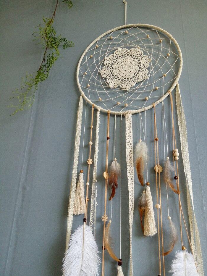 Один кусок ручной работы Ловец снов перо кисточки украшения стены свадебное украшение 40 см X 1,1 м - 3