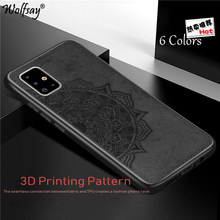 Cotton Fabric Case For Samsung Galaxy A51 Case Galaxy A51 A71 Magnetic Silicone Bumper Phone Case For Samsung Galaxy A51 Cover(China)