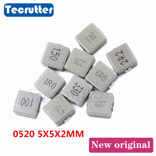 100PCS Inductance 0520 5X5X2mm 1UH 1R0 2.2UH 2R2  3.3UH 3R3 4.7UH 4R7 6.8UH 6R8 10UH 100 TPC series Power Inductor