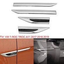 Для TROC 17-20 боковые зеркала автомобиля Fender двери крыла клей Стикеры отделка украшения для VW T-ROC 2017 2018 2019 2020 T ROC